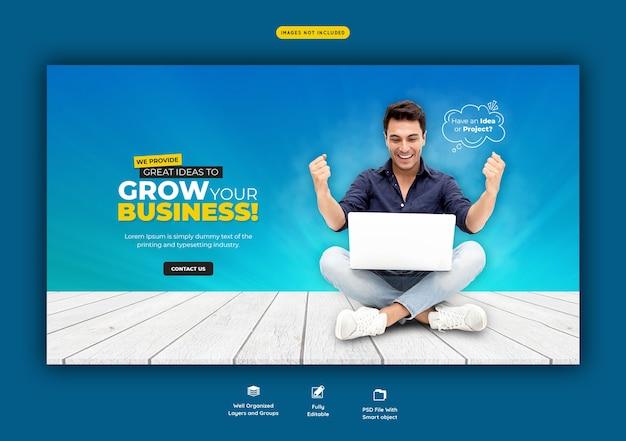 Zakelijke promotie en corporate websjabloon voor spandoek Gratis Psd