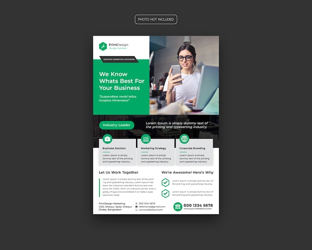 Zakelijke sjabloon folder Premium Psd