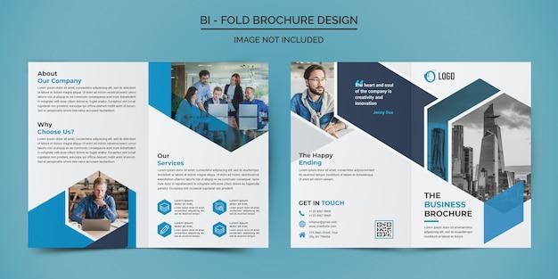 Zakelijke tweevoudige brochure ontwerpsjabloon Premium Psd
