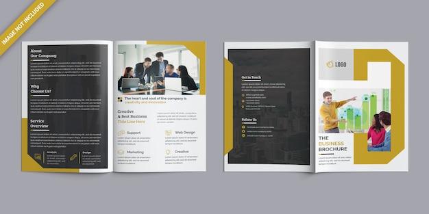Zakelijke tweevoudige brochure Premium Psd