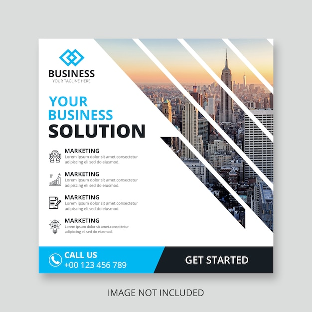 Zakelijke vierkante sjabloon folder Premium Psd