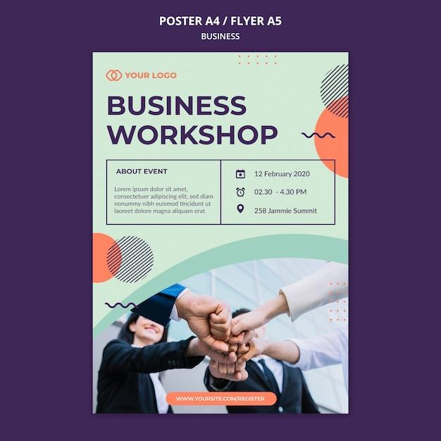 Zakelijke workshop concept flyer Gratis Psd