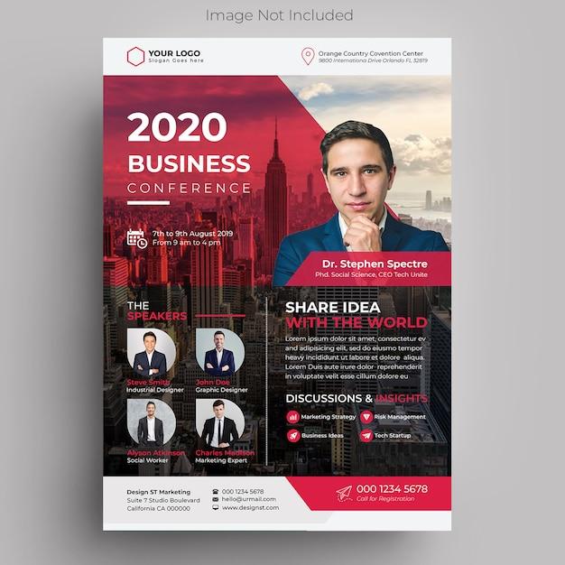 Zakelijke zakelijke conferentie flyer Premium Psd