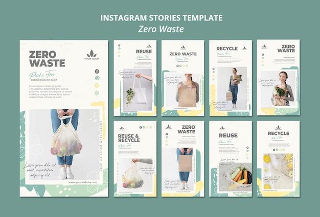 Zero waste instagram verhalen sjabloon Gratis Psd