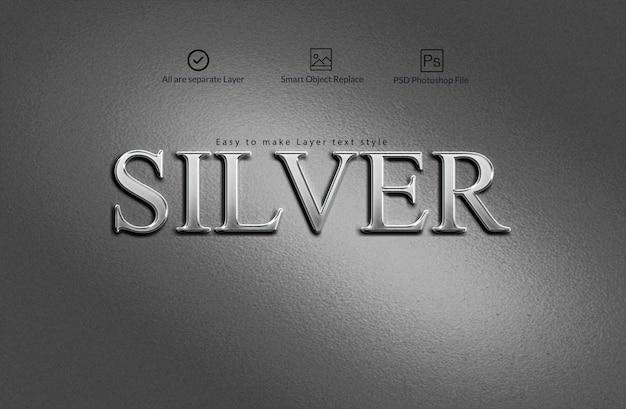 Zilveren teksteffect Premium Psd