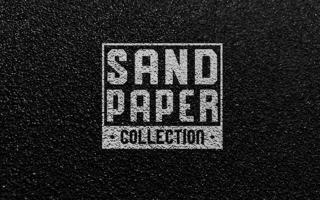 Zwart mockup met logo van schuurpapier Premium Psd