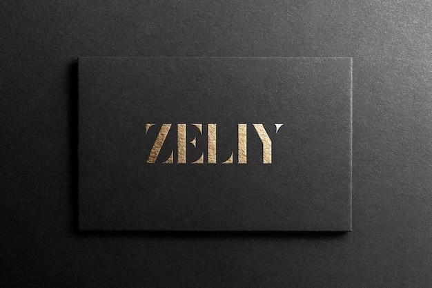 Zwart visitekaartje logo mockup Premium Psd