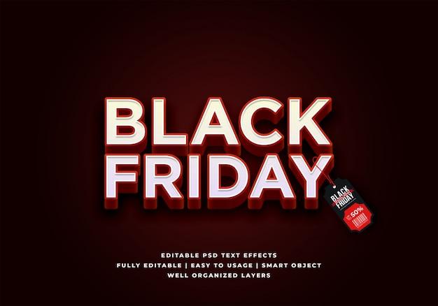 Zwart vrijdag verkoop tekststijl effect Premium Psd