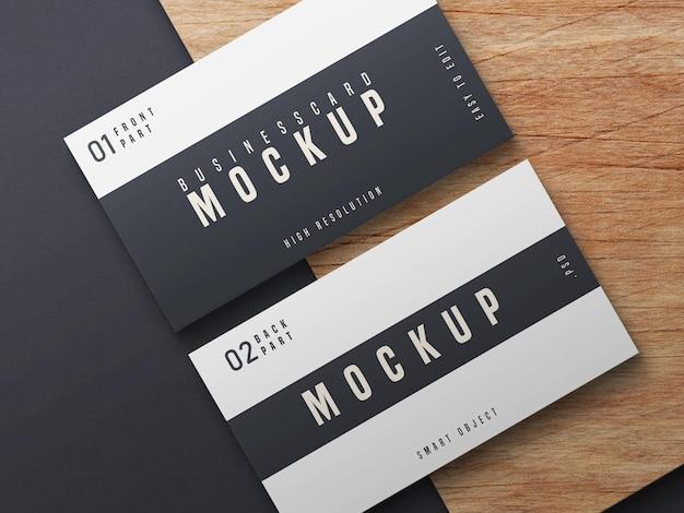 Zwart-wit visitekaartje mockup ontwerp Gratis Psd