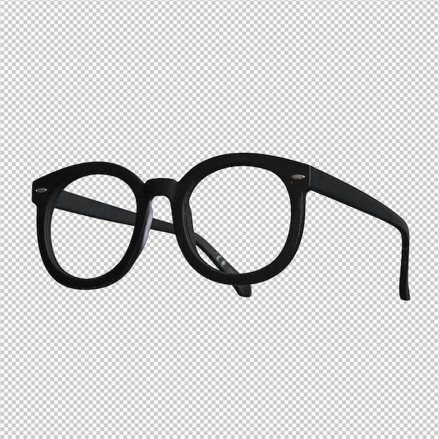 Zwarte bril over wit Premium Psd