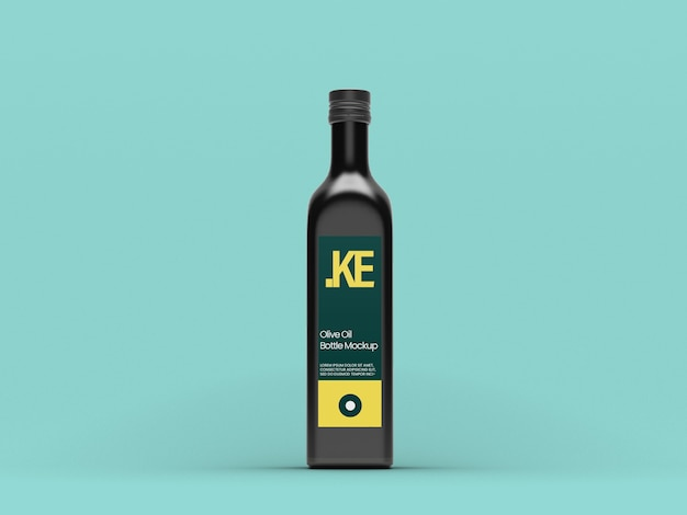 Zwarte olijfolie mockup Premium Psd