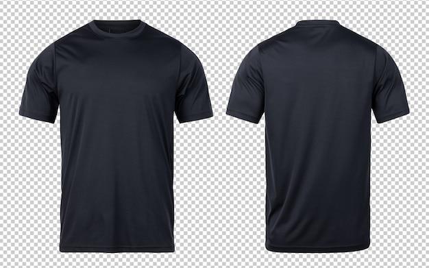Zwarte sport t-shirts voor- en achterkant mock-up sjabloon voor uw ontwerp. Premium Psd