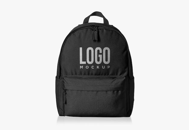 Zwarte studie tas logo ontwerp mockup Premium Psd