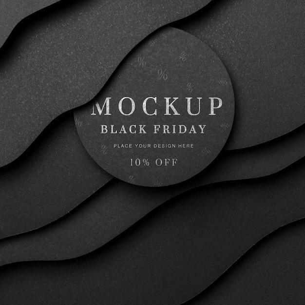 Zwarte vrijdag mock-up bochtige achtergrond Gratis Psd