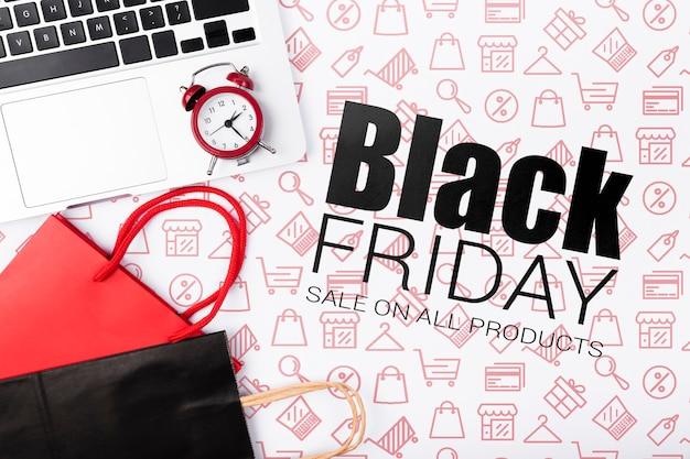 Zwarte vrijdag online campagne Gratis Psd