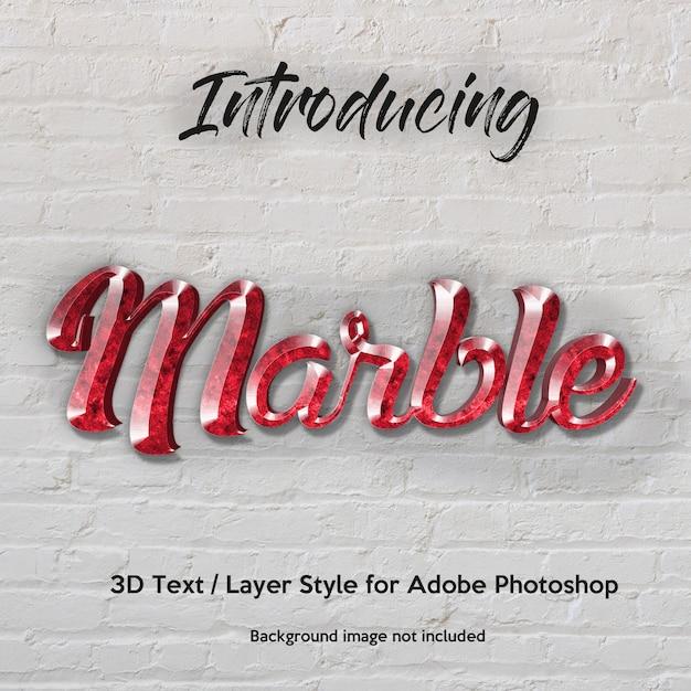 3d marbre granit texturé effets de texte de style de couche photoshop PSD Premium