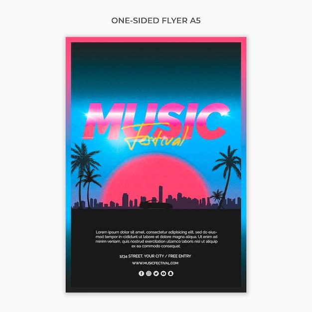 A5 Flyer Pour Festival De Musique Des Années 80 Psd gratuit
