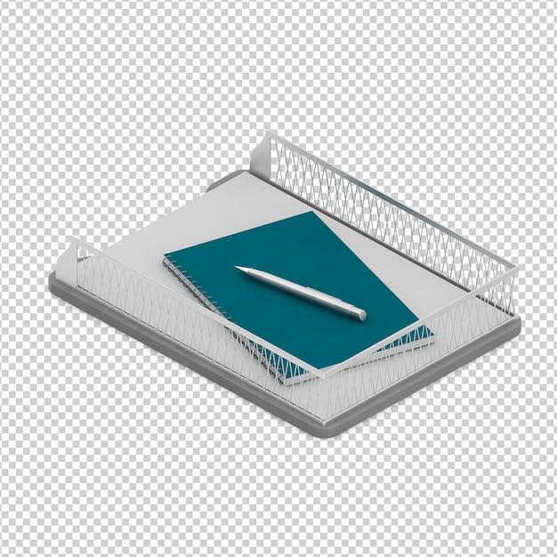 Accessoires de bureau isométriques PSD Premium