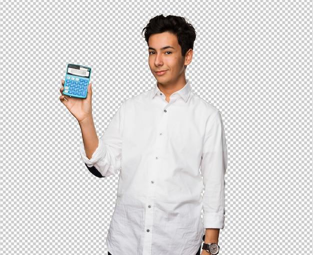 Adolescent Tenant Une Calculatrice PSD Premium