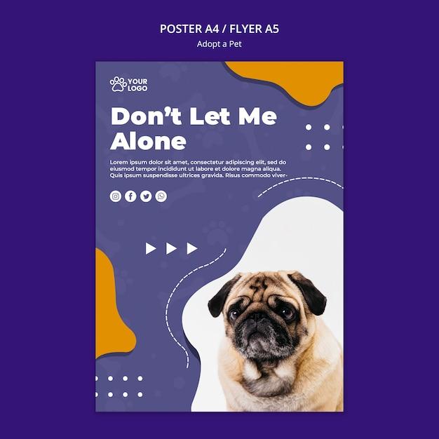 Adoptez Un Concept D'affiche Pour Animaux De Compagnie Psd gratuit