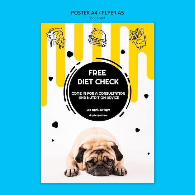 Affiche Carrée Colorée De Nourriture Pour Chien Psd gratuit