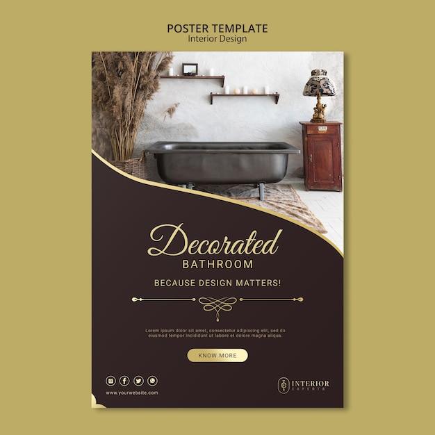 Affiche De Design D'intérieur Psd gratuit