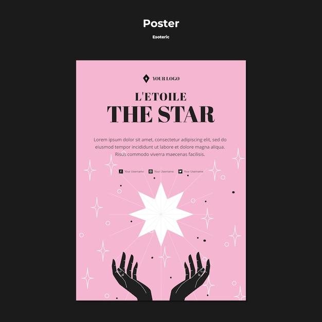 L'affiche Du Concept ésotérique De L'étoile Brillante Psd gratuit
