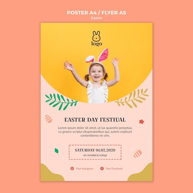 Affiche Du Festival De Pâques Psd gratuit