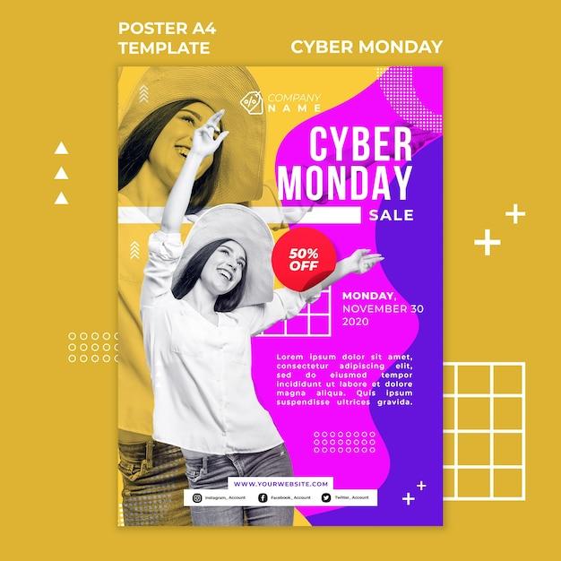 Affiche Du Modèle Cyber Monday Psd gratuit