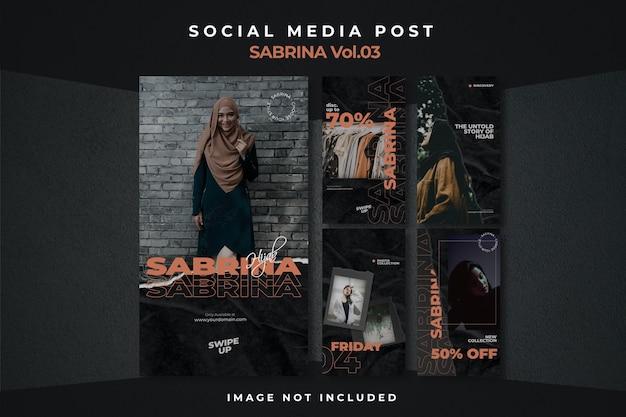 Affiche D'histoire De Flux De Médias Sociaux Flyer Square Instagram PSD Premium