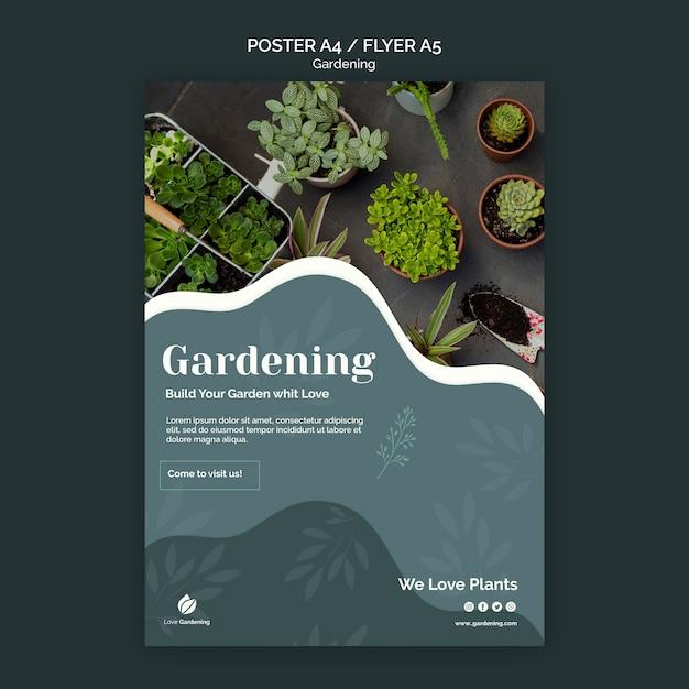 Affiche Avec Jardinage Psd gratuit