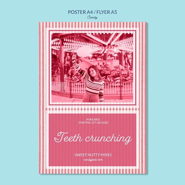 Affiche De Magasin De Bonbons Croquant Les Dents Psd gratuit