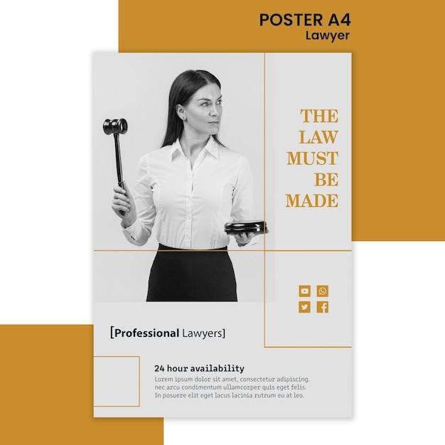 Affiche De Modèle D'annonce De Cabinet D'avocats Psd gratuit