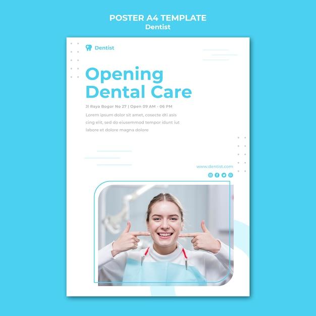 Affiche De Modèle D'annonce De Dentiste Psd gratuit
