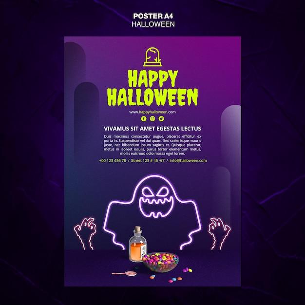 Affiche De Modèle D'annonce D'événement D'halloween Psd gratuit