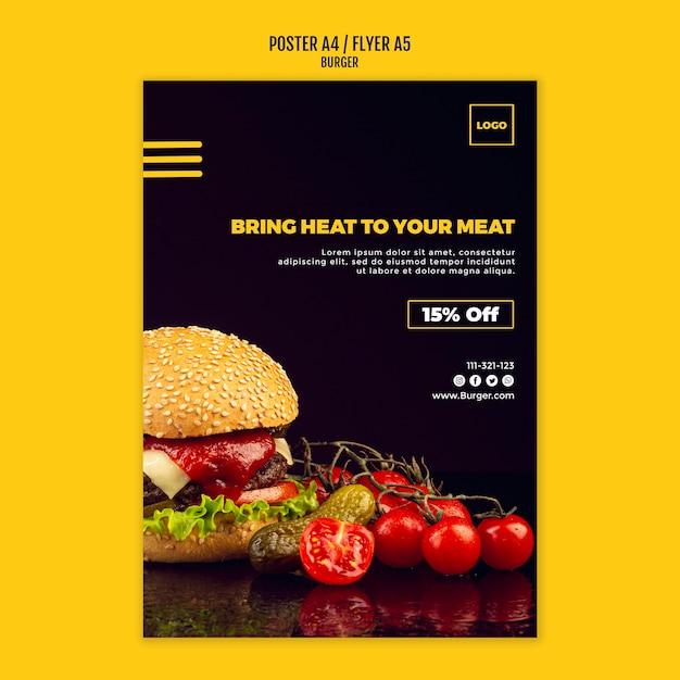Affiche De Modèle De Burger Psd gratuit