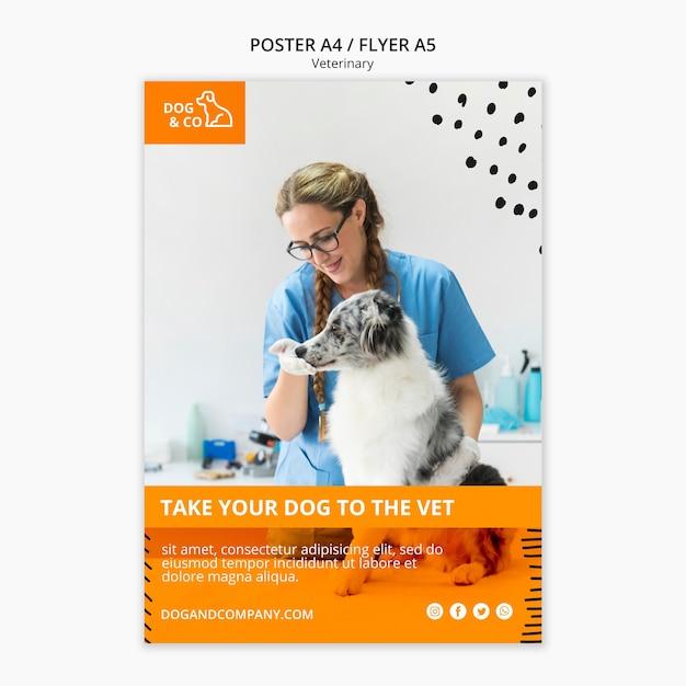 Affiche Avec Modèle Vétérinaire Psd gratuit