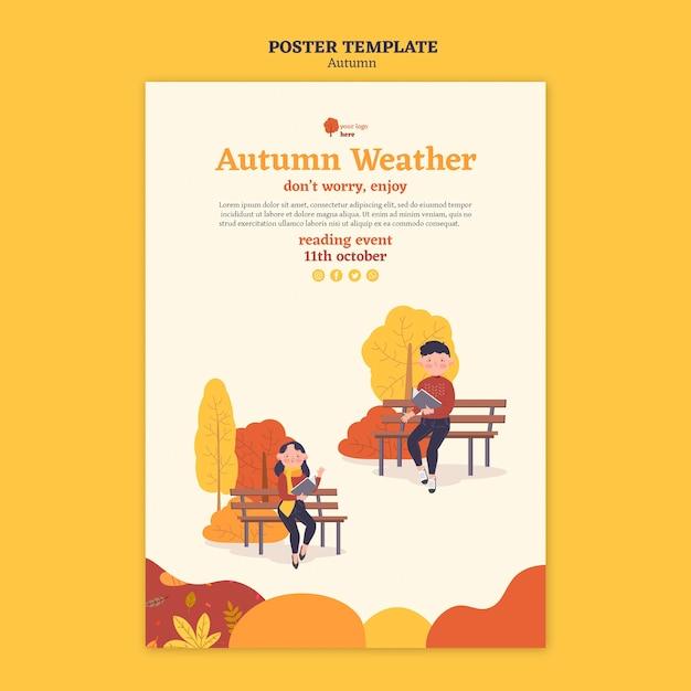 Affiche Pour Les Activités D'automne En Plein Air Psd gratuit