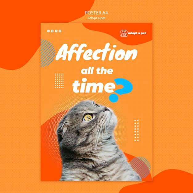 Affiche Pour L'adoption D'animaux De Compagnie à Partir D'un Refuge Psd gratuit