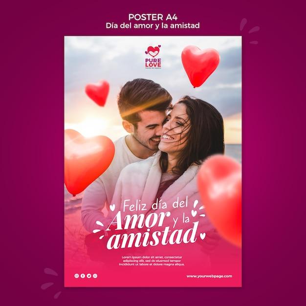 Affiche Pour La Célébration De La Saint Valentin Psd gratuit