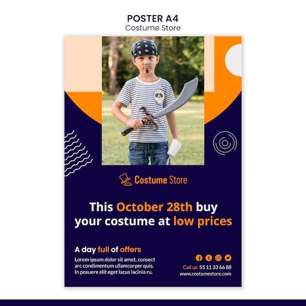 Affiche Pour Les Costumes D'halloween Psd gratuit