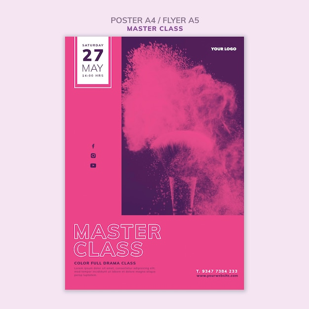 Affiche Pour Masterclass Psd gratuit