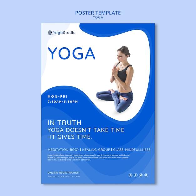 Affiche Pour Le Yoga Fitness Psd gratuit