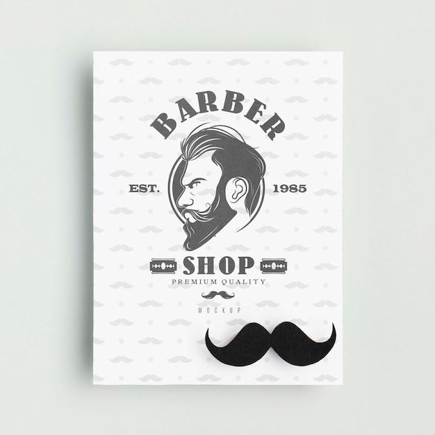 Affiche De Salon De Coiffure Vue De Dessus Avec Maquette Psd gratuit