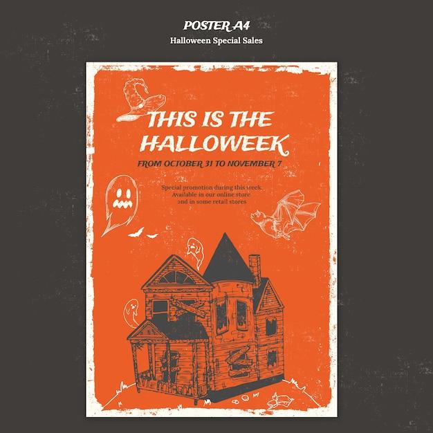 Affiche Verticale Pour Halloweek Psd gratuit