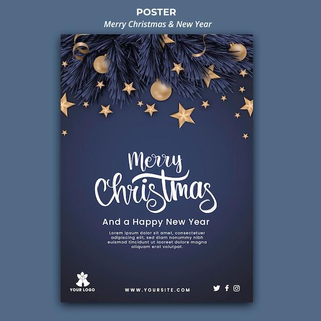Affiche Verticale Pour Noël Et Nouvel An Psd gratuit