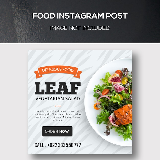 Alimentation instagram post PSD Premium