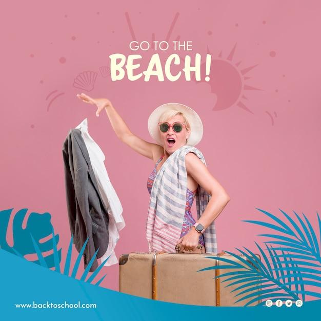Aller au modèle de plage Psd gratuit