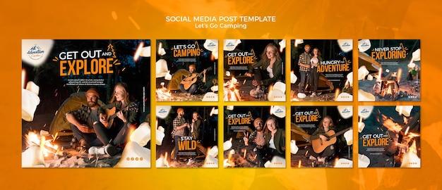 Allons Camper Les Publications Sur Les Réseaux Sociaux PSD Premium