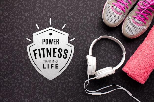 Appareils De Fitness Et Des écouteurs Psd gratuit